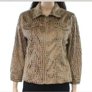 RUBY RD Textured Jacket w collar